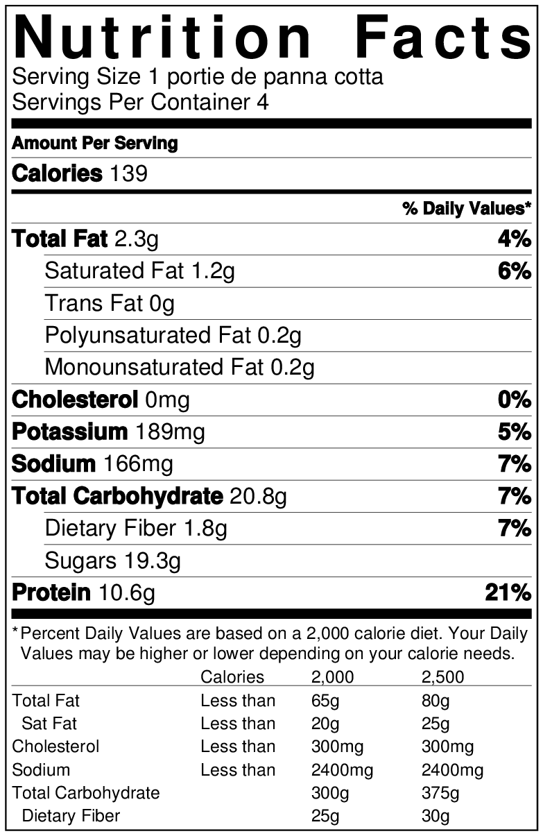 NutritionLabel